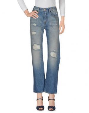 Джинсовые брюки R13. Цвет: синий