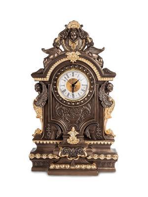 Каминные часы в стиле барокко Veronese. Цвет: бронзовый