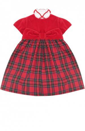 Платье со съемным воротником Caf. Цвет: красный
