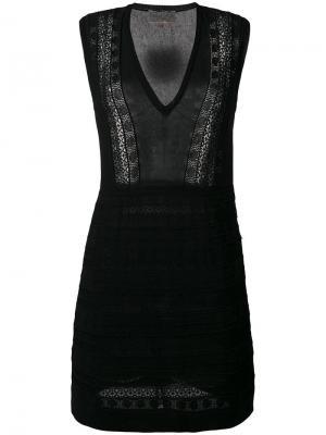 Приталенное платье с V-образным вырезом Giambattista Valli. Цвет: чёрный