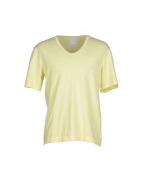 Футболка U CLOTHING. Цвет: светло-желтый