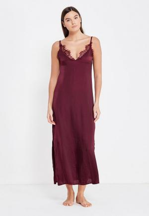 Сорочка ночная womensecret women'secret. Цвет: бордовый