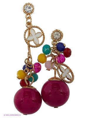 Серьги Lovely Jewelry. Цвет: розовый