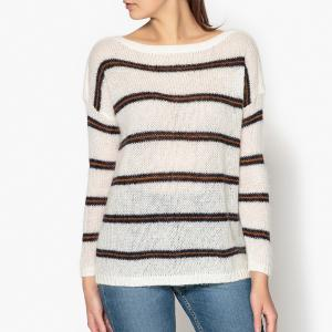 Пуловер в полоску MANOU HARRIS WILSON. Цвет: экрю