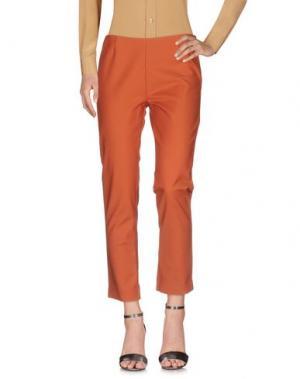 Повседневные брюки KORALLINE. Цвет: ржаво-коричневый