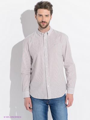 Рубашка Wrangler. Цвет: белый, красный