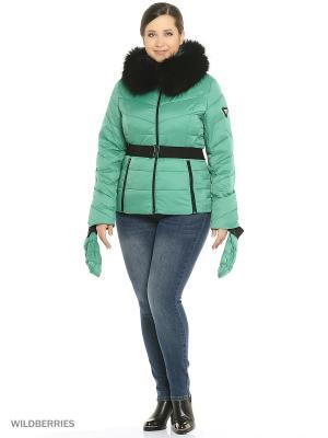 Куртка MOHNASS. Цвет: светло-зеленый