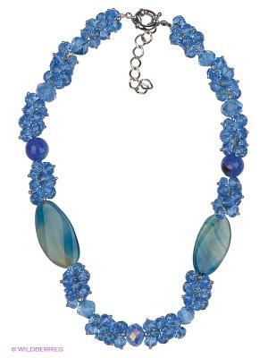 Колье Красота Природы. Цвет: синий, голубой, серебристый