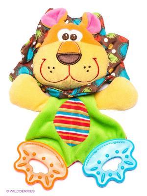 Мягкая игрушка-прорезыватель Львенок Playgro. Цвет: желтый, салатовый, коричневый, розовый