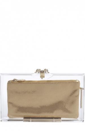 Клатч с набором косметичек Charlotte Olympia. Цвет: бесцветный