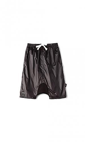 Nylon baggy shorts Nununu. Цвет: черный