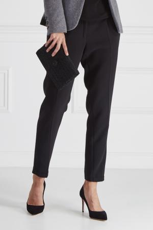 Однотонные брюки No Name. Цвет: черный