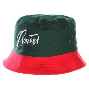 Панама  Футбол Dark Green/Red Запорожец. Цвет: зеленый,красный