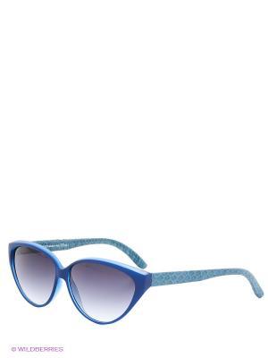 Солнцезащитные очки TOUCH. Цвет: синий, черный