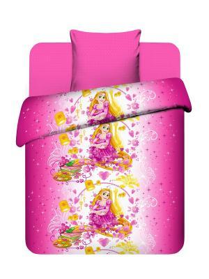 Комплект постельного белья из бязи Принцессы Дисней Василек. Цвет: розовый