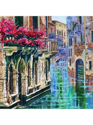 Картина - репродукция Гранд-канал Magic Home. Цвет: голубой,бежевый,розовый