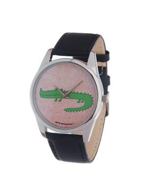 Часы Mitya Veselkov Крокодил. Цвет: зеленый