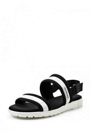 Сандалии Calvin Klein Jeans. Цвет: черно-белый