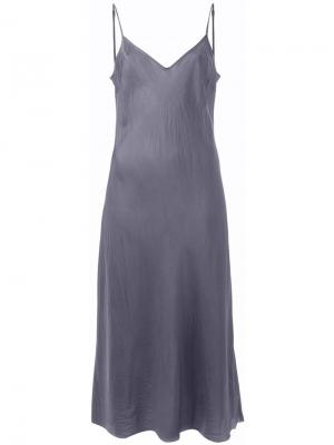 Платье на бретельках Organic By John Patrick. Цвет: серый
