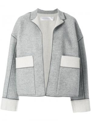 Куртка с накладными карманами Victoria Beckham. Цвет: серый
