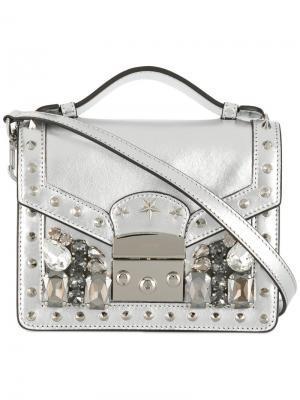 Мини сумка Chelsea Gedebe. Цвет: металлический