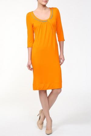 Платье Carla B. Цвет: оранжевый
