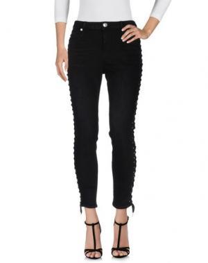 Джинсовые брюки TRUE RELIGION. Цвет: черный