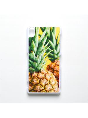 Чехол для Sony Xperia Z3 Ананас Boom Case. Цвет: светло-зеленый, светло-желтый