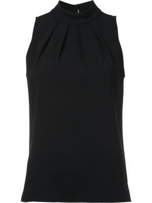 Блузка со складками Trina Turk. Цвет: чёрный