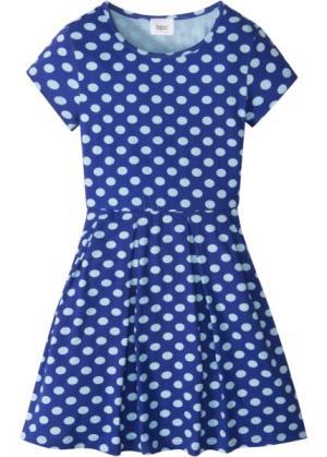 Трикотажное платье (сапфирно-синий/нежно-голубой) bonprix. Цвет: сапфирно-синий/нежно-голубой