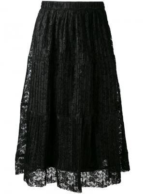 Плиссированная юбка See By Chloé. Цвет: чёрный