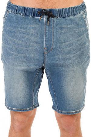 Шорты джинсовые  Fonicdenflshblu Blur Quiksilver. Цвет: синий