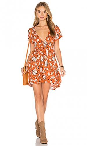 Платье gypsy dancer Spell & The Collective. Цвет: оранжевый