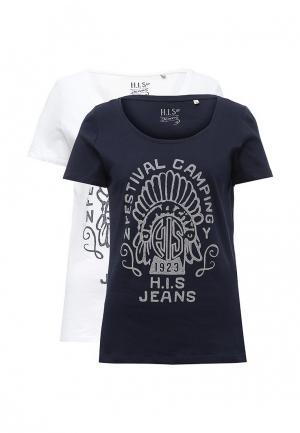 Комплект футболок 2 шт. H.I.S. Цвет: разноцветный