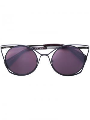 Солнцезащитные очки Yohji Yamamoto. Цвет: розовый и фиолетовый