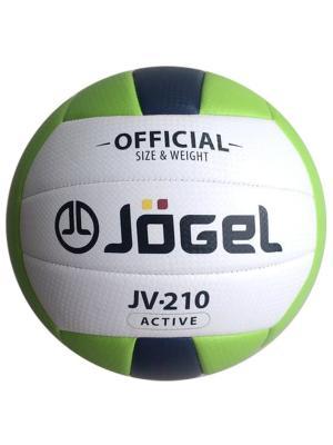 Мяч волейбольный Jogel JV-210. Цвет: зеленый, темно-синий