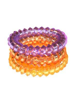 Резинки Lola. Цвет: фиолетовый, оранжевый, коричневый