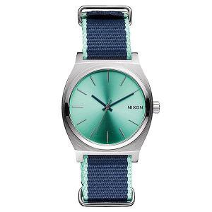 Часы  Time Teller Mint/Navy Nixon. Цвет: зеленый,синий,серый