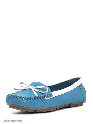 Мокасины Amazonga. Цвет: голубой