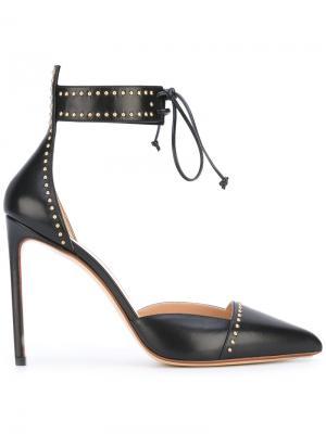 Туфли с ремешком на щиколотке Francesco Russo. Цвет: чёрный