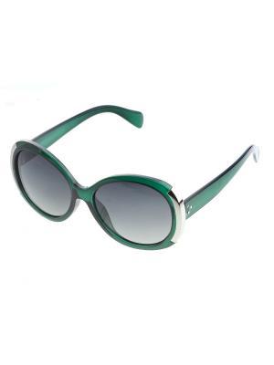 Солнцезащитные очки. Bijoux Land. Цвет: зеленый