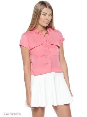Рубашка VOI JEANS. Цвет: малиновый