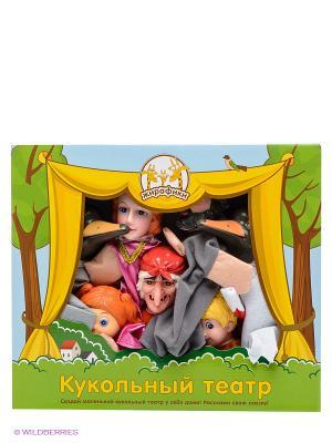 Кукольный Театр Гуси-лебеди, 7 кукол Жирафики. Цвет: черный, синий, зеленый, серый, коричневый, голубой, красный, желтый