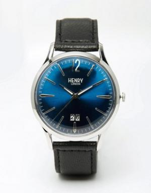 Henry London Часы с кожаным ремешком Knightsbridge. Цвет: черный