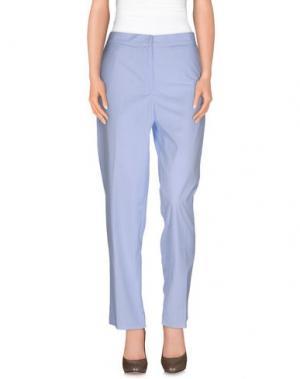 Повседневные брюки ROBERTA GUERCINI. Цвет: небесно-голубой