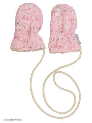 Варежки Kerry. Цвет: бледно-розовый, розовый