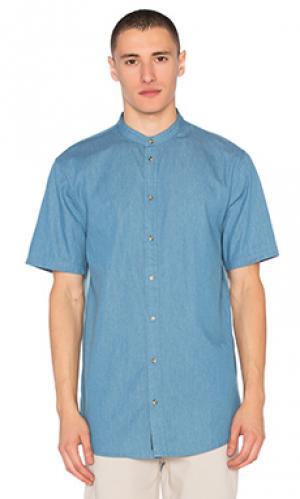 Джинсовая рубашка без воротника I Love Ugly. Цвет: none