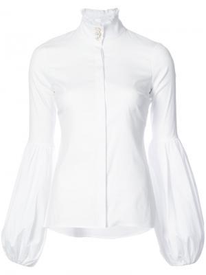 Классическая рубашка в клетку Caroline Constas. Цвет: белый