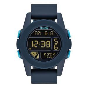 Электронные часы  Unit All Dark Blue Nixon. Цвет: синий,голубой