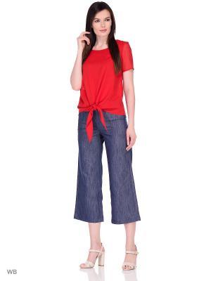 Блузка DEVORE. Цвет: красный